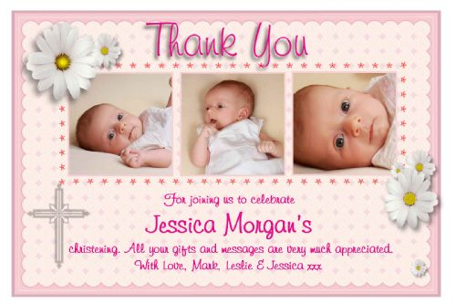 10 Personalised Thank you PHOTO Cards N131